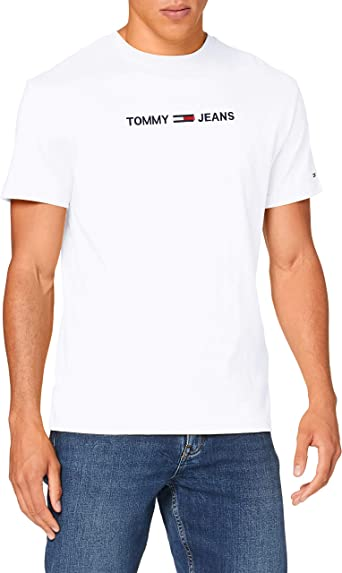 TALLA XS. Tommy Jeans TJM Straight Logo tee Camisa para Hombre