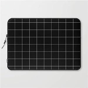 "Laptop Sleeve - Laptop Sleeve - 15"" - Black Grid /// Pencilmeinstationery.com by Pencil Me in"