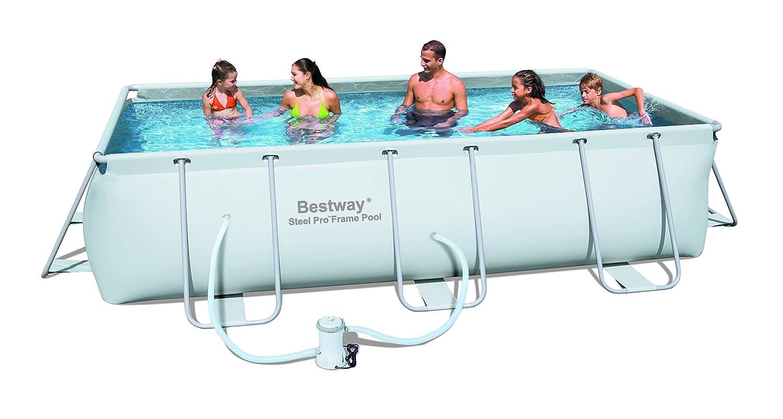 Bestway Rectangular Frame Pool Set   159 X 79 X 39.5 Inches: Amazon.co.uk:  Toys U0026 Games