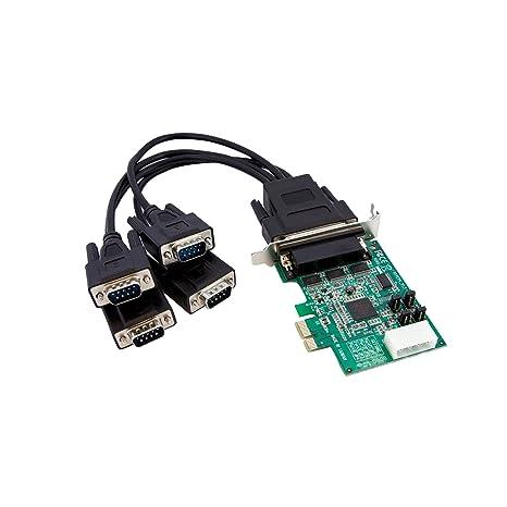 StarTech.com PEX4S952LP - Tarjeta adaptadora PCI-e Perfil bajo de 4 Puertos Serie