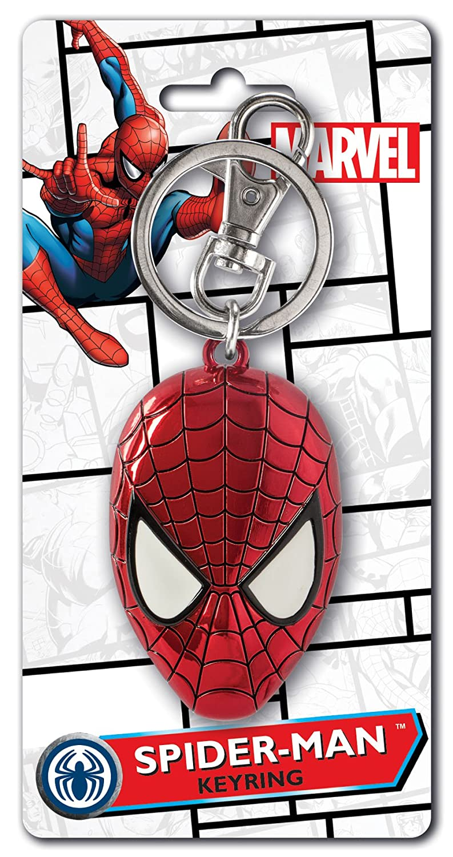 Marvel Hombre Spiderman colores cabeza estaño clave Anillo