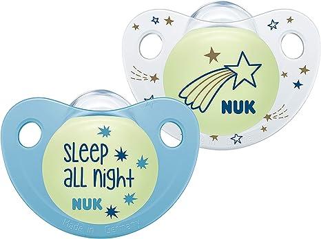 NUK 10176247 Trendline Night & Day - Chupete de silicona con ...