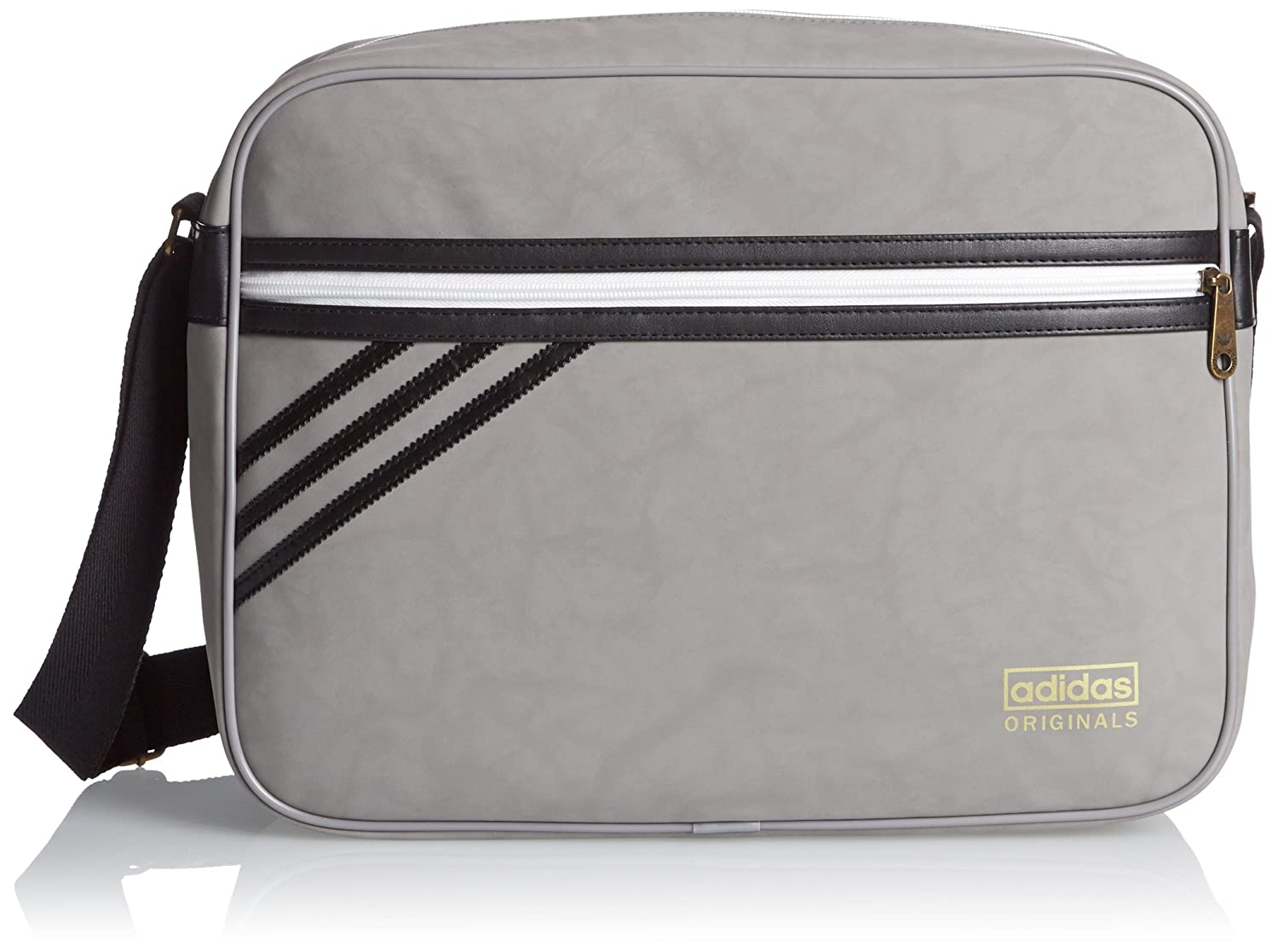 adidas Airliner Suede Bag - Solid Grey/Black, One Size: Amazon.co.uk: Sports & Outdoors