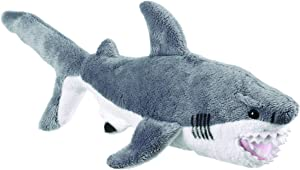 Wildlife Tree 12 Inch Great White Shark Small Floppy Stuffed Animal Conservation Collection