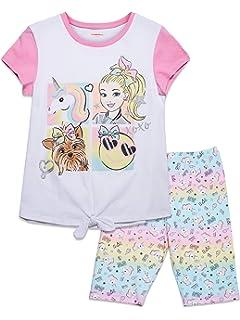 Jojo Siwa Girls 2-Piece Bike Shorts Set Outfit