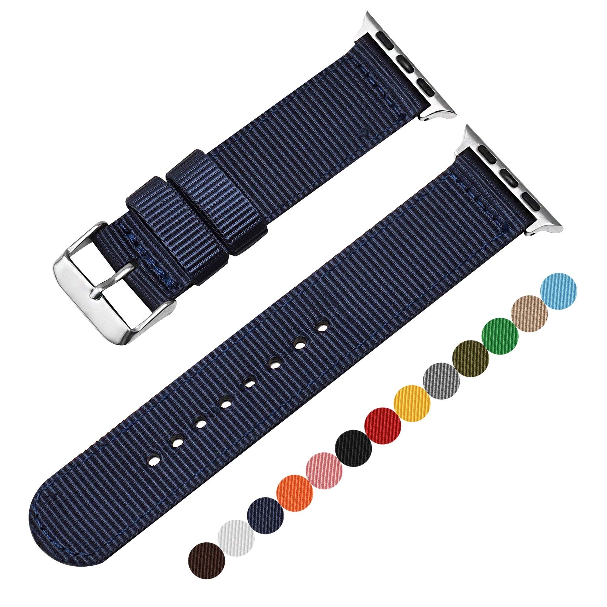 Autulet for Apple Watch Band Nylon Replacement Women's Or Men's 38mm for Apple Iwatch 1/2/3 (Royal Blue)