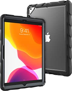 GumDrop DropTech Case Designed for The New Apple iPad 10.2 7th Gen (2019) Tablet for Commercial, Business and Office Essentials - Black, Rugged, Shock Absorbing, Extreme Drop Protection (Black)