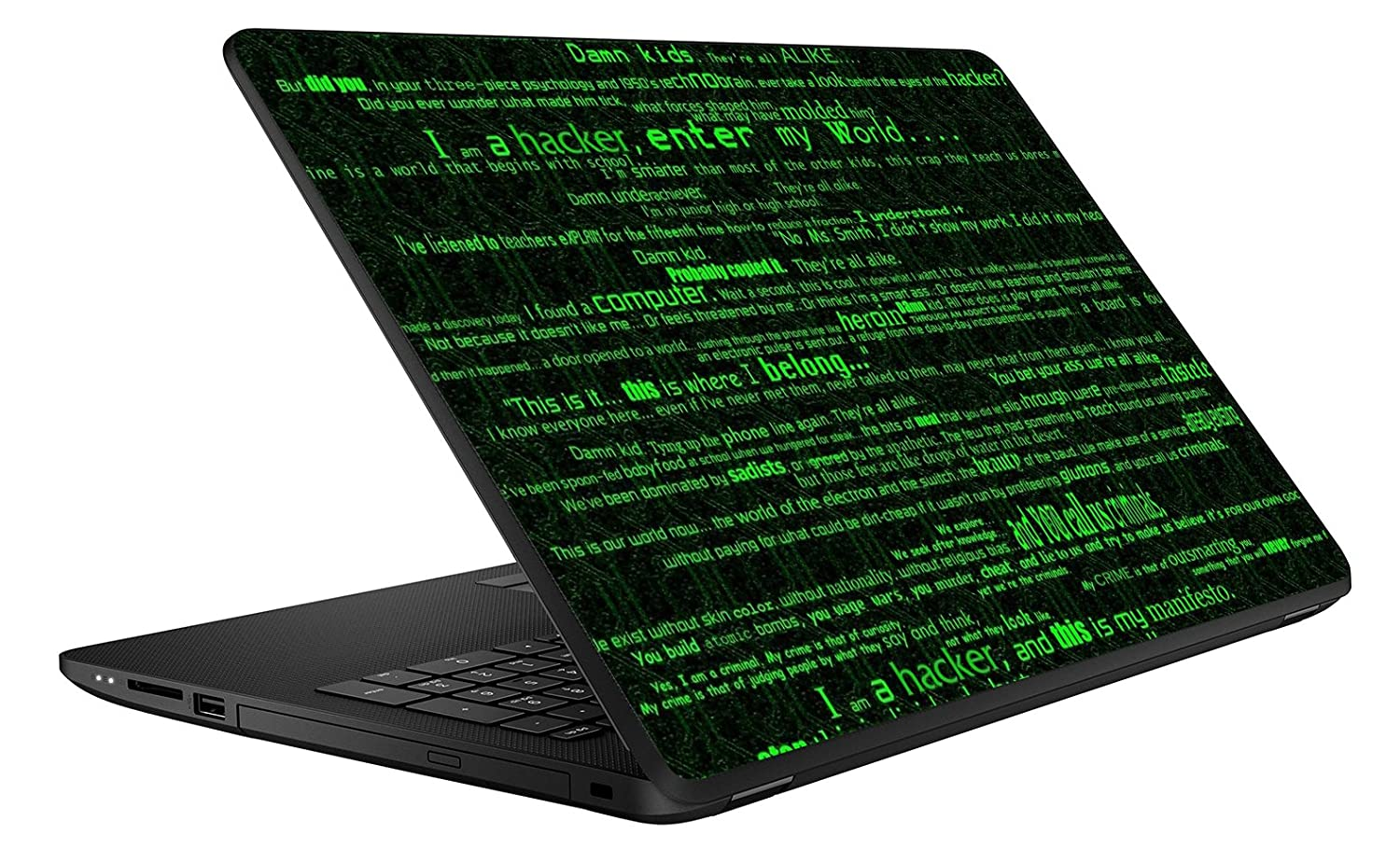 GADGETS WRAP The Hacker Laptop Decal for 15 6 inch Laptop