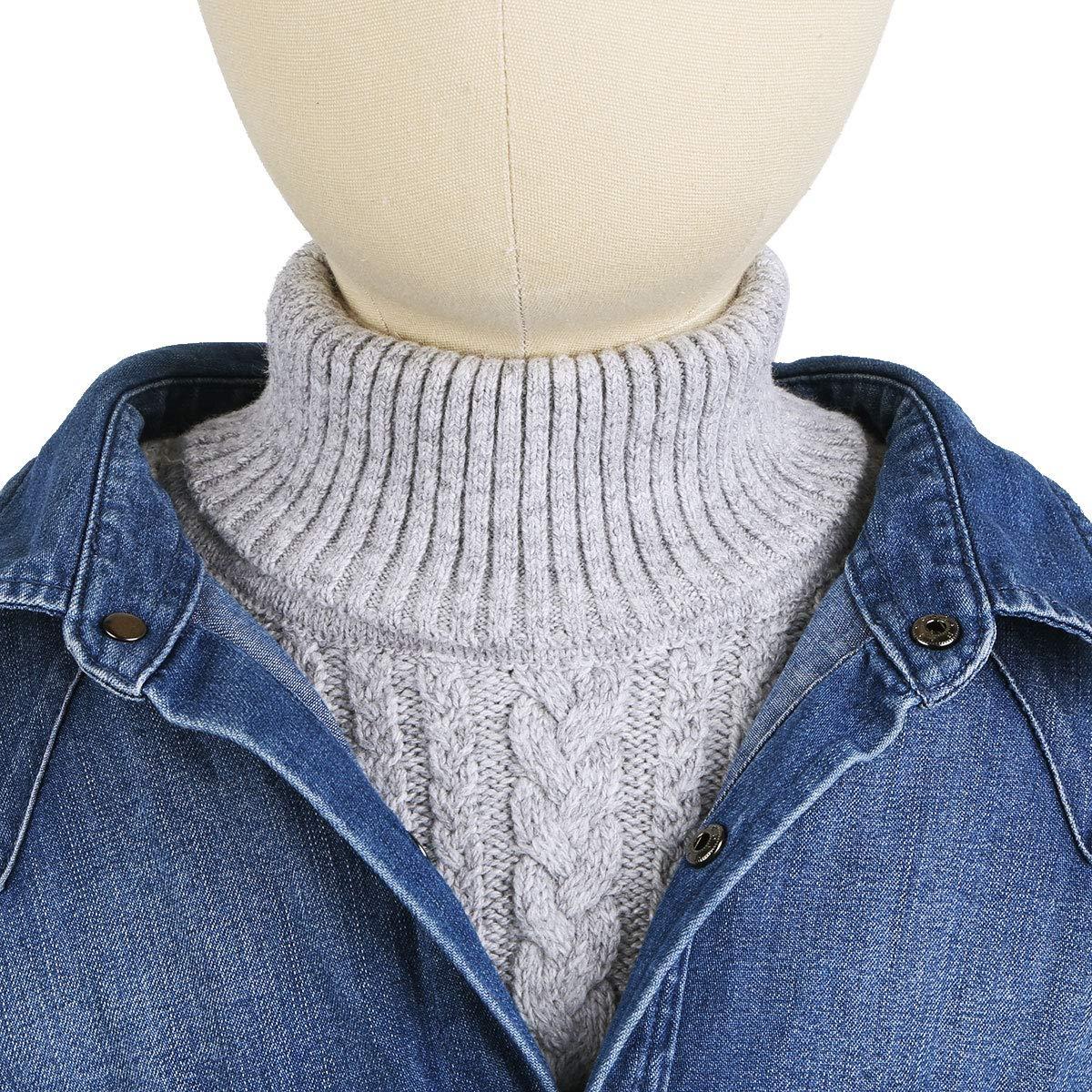 TiaoBug Children Turtleneck Dicky Mock Neck Gaiter Scarf Collar Baby Warmer Sweater Neck Cover Grey One Size