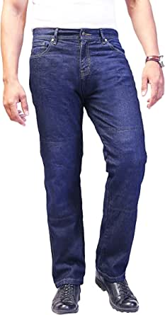los pantalones vaqueros de la motocicleta. Pantalones para hombre de la moto. Aramida forrado. Protectores libres.: Amazon.es: Ropa y accesorios