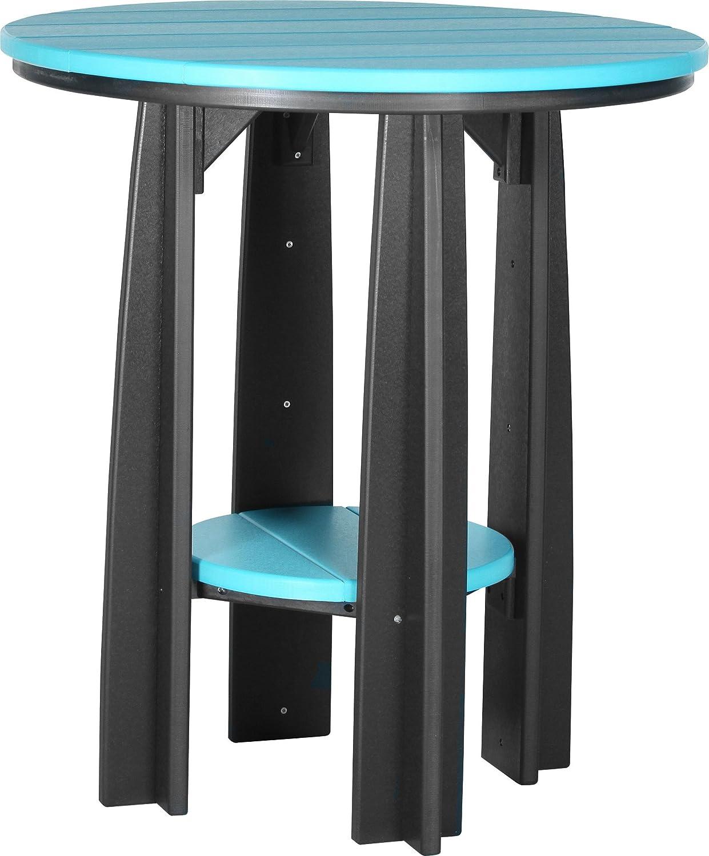 Aruba Blue and Black Poly Balcony Table