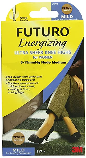 447ca7932d9 Image Unavailable. Image not available for. Color  Futuro Energizing Ultra  Sheer Mild Knee Highs 8-15 ...