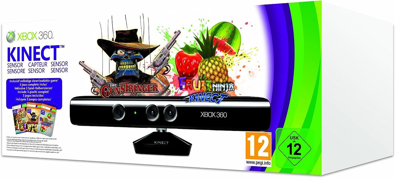 Microsoft Xbox 360, Kinect Sensor + Gunstringer - cajas de video juegos y accesorios (Kinect Sensor + Gunstringer, Negro): Amazon.es: Videojuegos