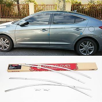 autoclover cromo ventana superior moldura 6pcs 1set para Hyundai Elantra 2017 +