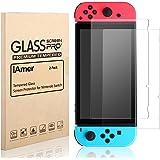 iAmer Protector de Pantalla para Nintendo Switch, Nintendo Switch Protector de Pantalla de Cristal Templado,9H de Dureza/0.28mm(2 Unidades)
