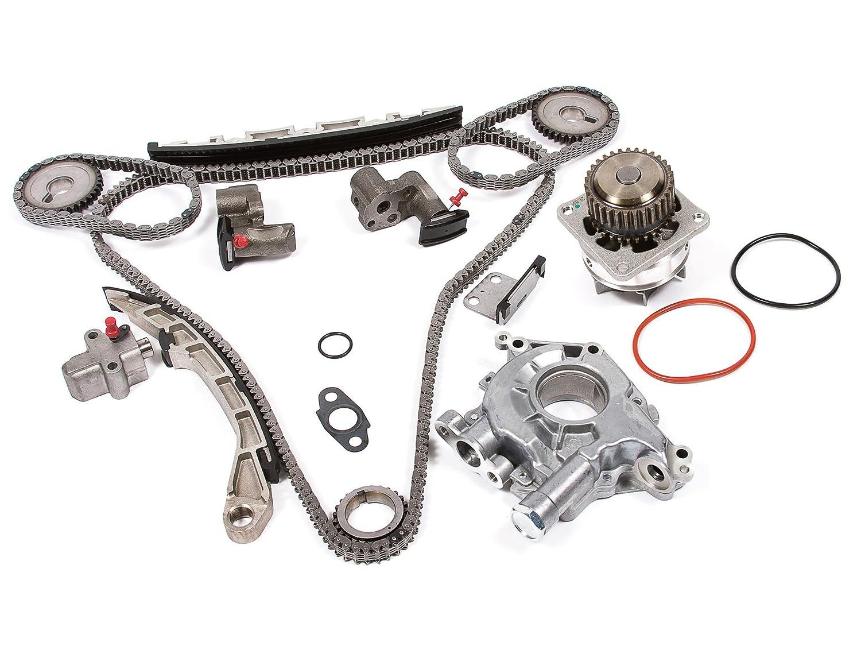 Evergreen Tk3035wopt Timing Chain Kit Oil Pump And Belt Water Fits Nissan Altima Maxima 350z Murano Infiniti Fx35 G35 35l Vq35de Automotive