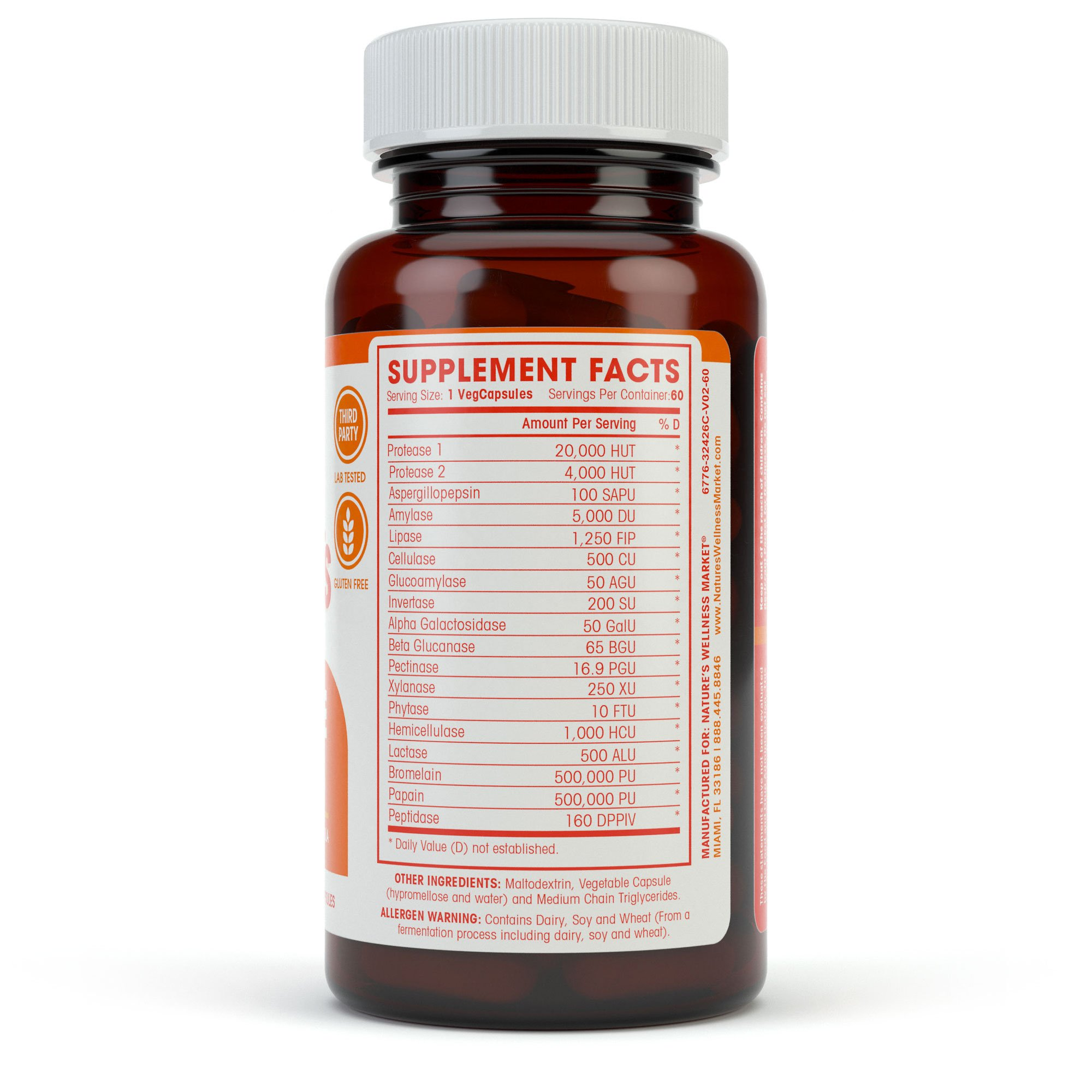 Digestive Enzymes Complete - Advanced Multi Enzyme Supplement for Better Digestion & Absorption. Help Gas Relief, Discomfort, Bloating, IBS, Gluten & Lactose Intolerance by Natures Wellness (Image #4)