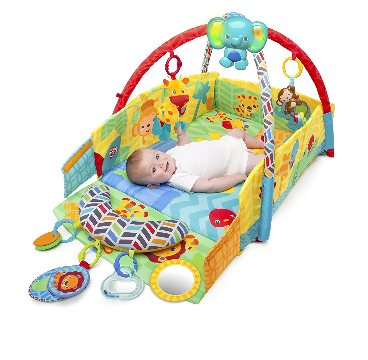 Amazon Bright Starts Sunny Safari Baby s Play Place Baby