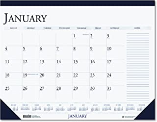 product image for House of Doolittle Two-Color Monthly Desk Pad Calendar with Large Notes Section, 2010 Edition, 22 x 17 Inch, Blue (HOD164)
