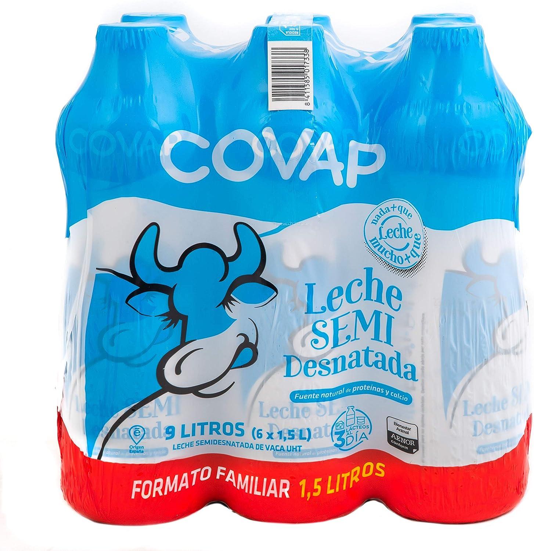 Lacteos Covap Leche Semidesnatada Covap 1,5 L (Packs 6 Uds) 6 Unidades 9000 g