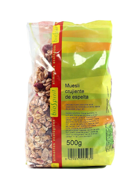 Biospirit Muesli Crujiente de Espelta de Cultivo Ecológico - 500 gr: Amazon.es: Alimentación y bebidas