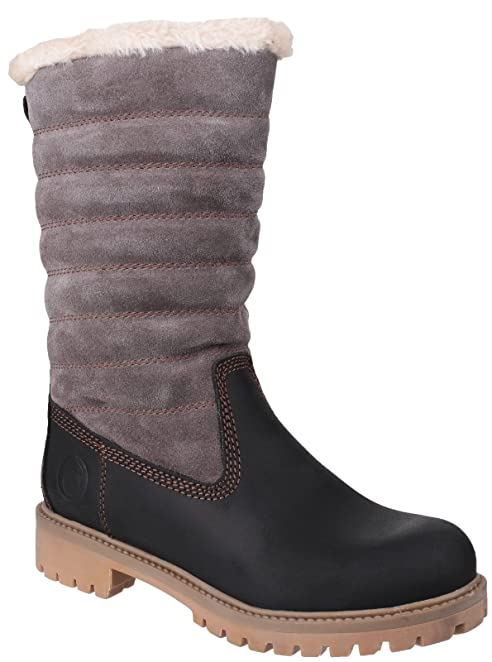 Women's Ripple Suede Mid Calf Lined Boot