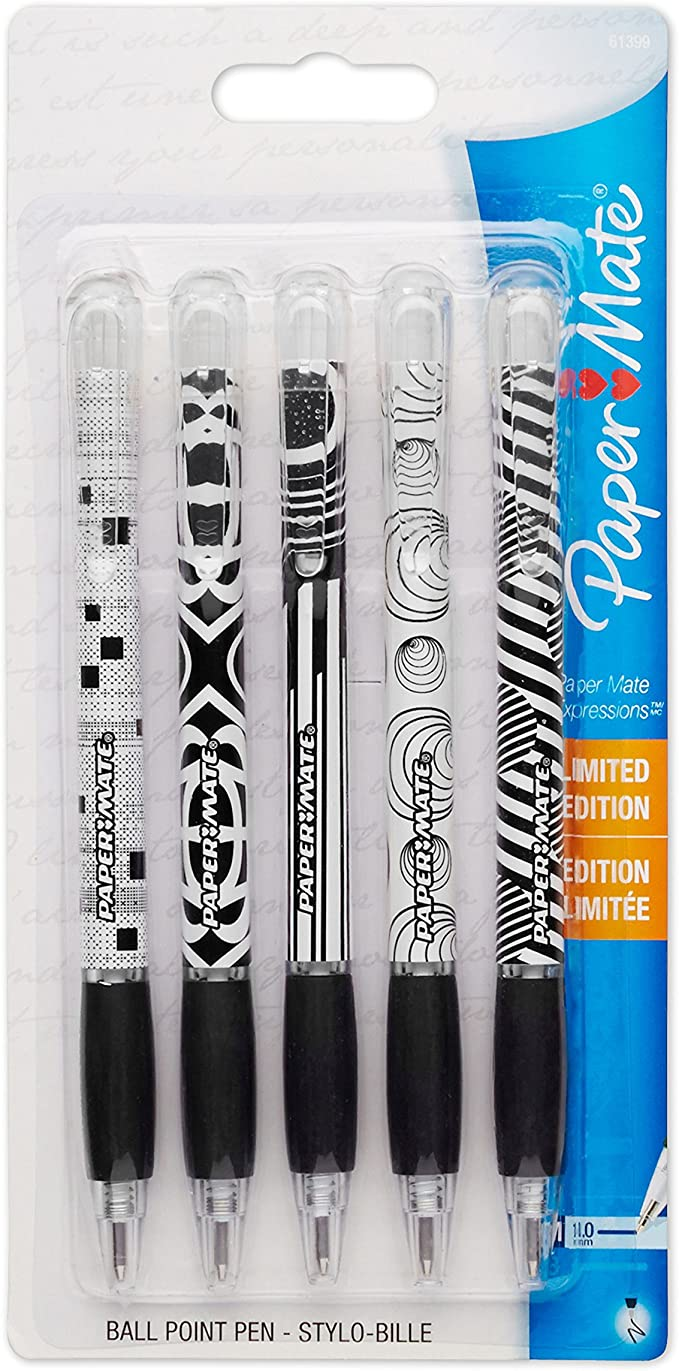 Ballpoint Pen, 1.0mm, 5 Count, Black, Sold as 1 Package: Amazon.es: Electrónica