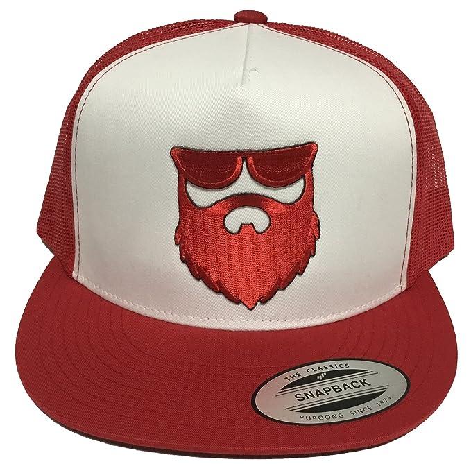 3963f26250383 Image Unavailable. Image not available for. Color  El Señor De La Barba  Mexico Hat White Red Mesh