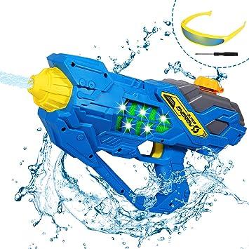 ARANEE Pistola de Agua eléctrica con Gafas Pistola de Agua ...