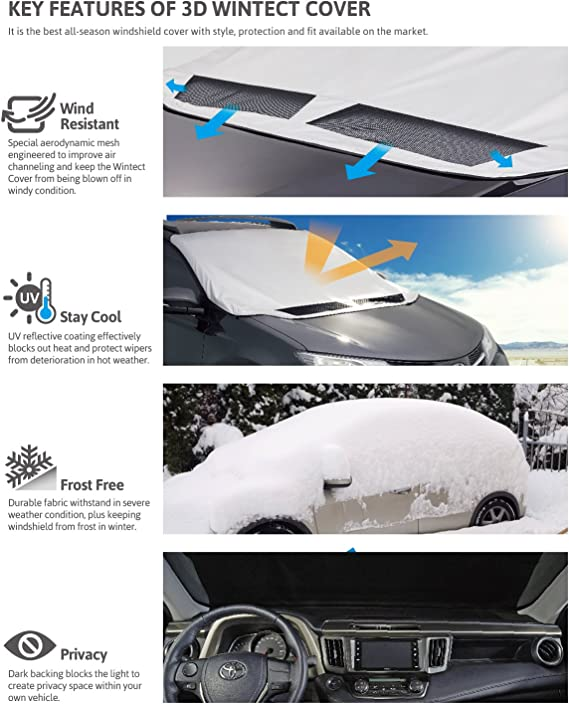 Intro-Tech FD-53-S Custom Fit Windshield Snow Shade for Select Ford Focus Models Silver