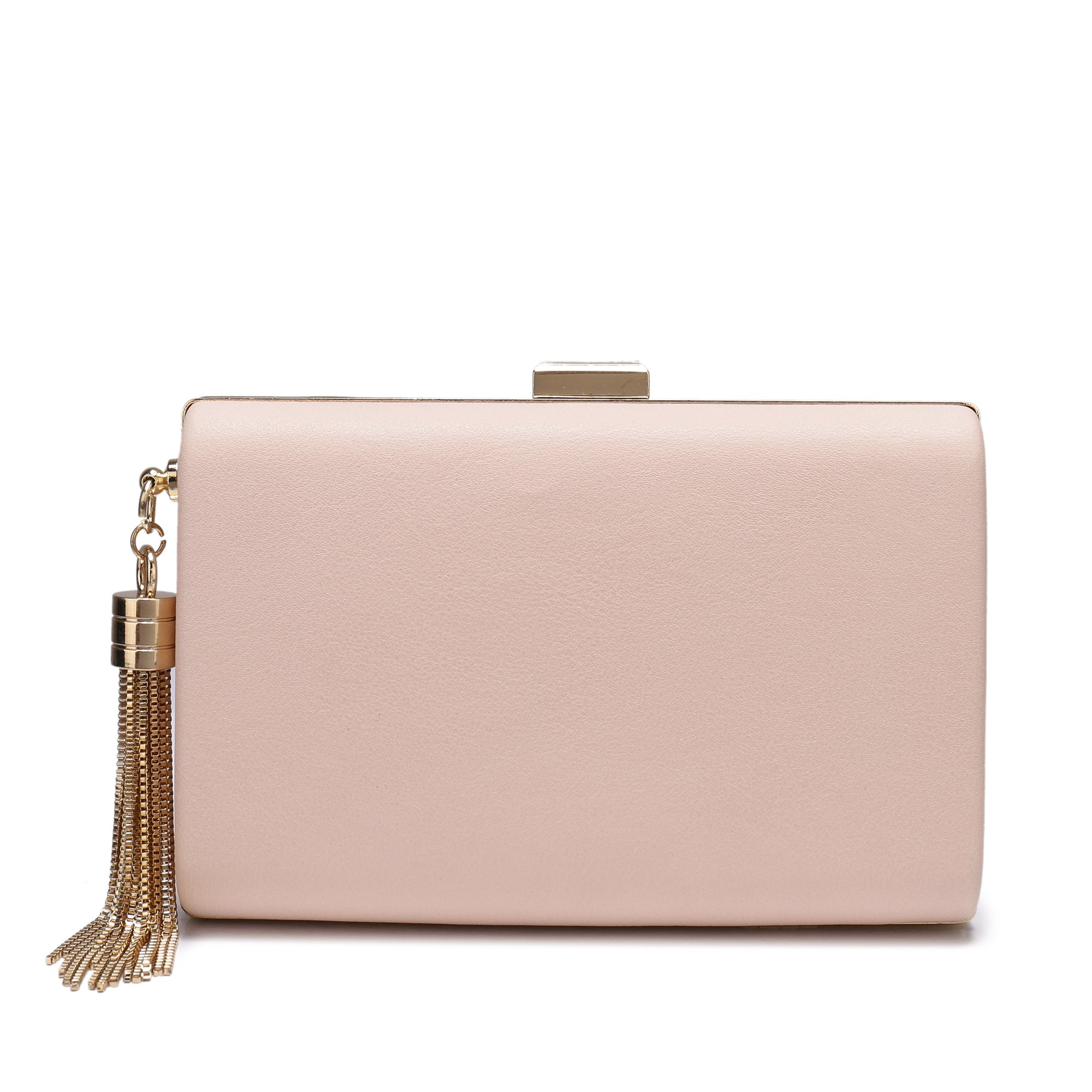 Leather Evening Clutch Handbag Clutch Purse Prom For Cocktail Wedding Women Pink