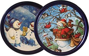Christmas Tin Cookies.Amazon Com Christmas Tin With Butter Cookies 2 Tins 12
