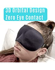 ❤️ HugSnug ❤️ - Sleep Mask 3D Eye Mask Memory Foam with Large Eye Cavity Blindfold and Sleeping Aid Deep Orbital Design for Sleeping in Total Comfort Ideal for REM Sleepers Men Woman and Kids Blocks Light