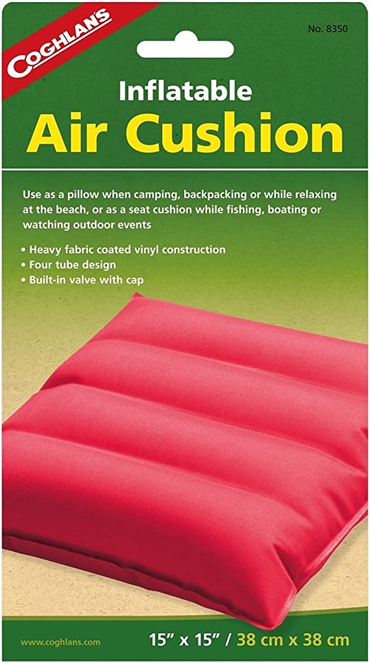 com-four/® self-inflating seat cushion with bag travel cushion for camping and outdoor 40 x 30 cm blue beach cushion inflatable pillow