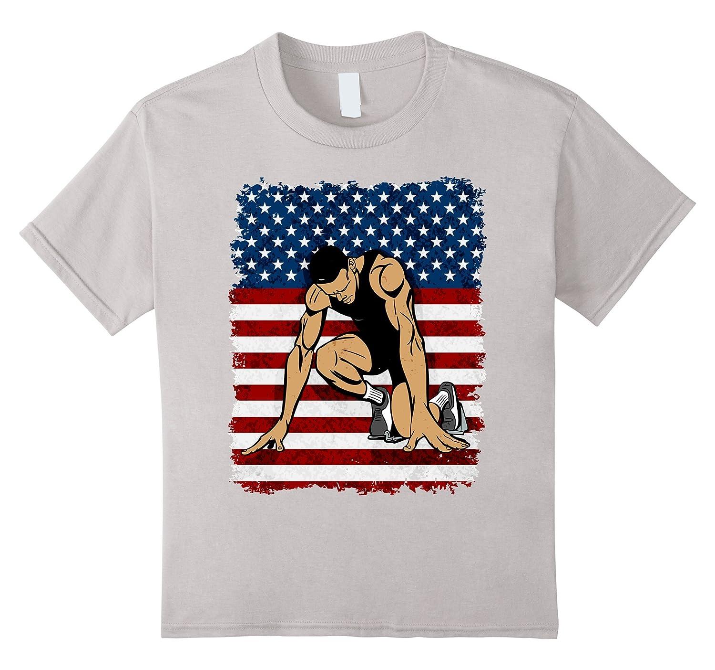 Sprinter American Flag Patriotic T shirt-Newstyleth