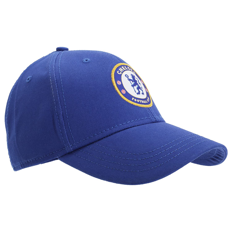 7d7d905390f Amazon.com  Chelsea FC Unisex Official Football Crest Baseball Cap (One  Size) (Blue)  Clothing