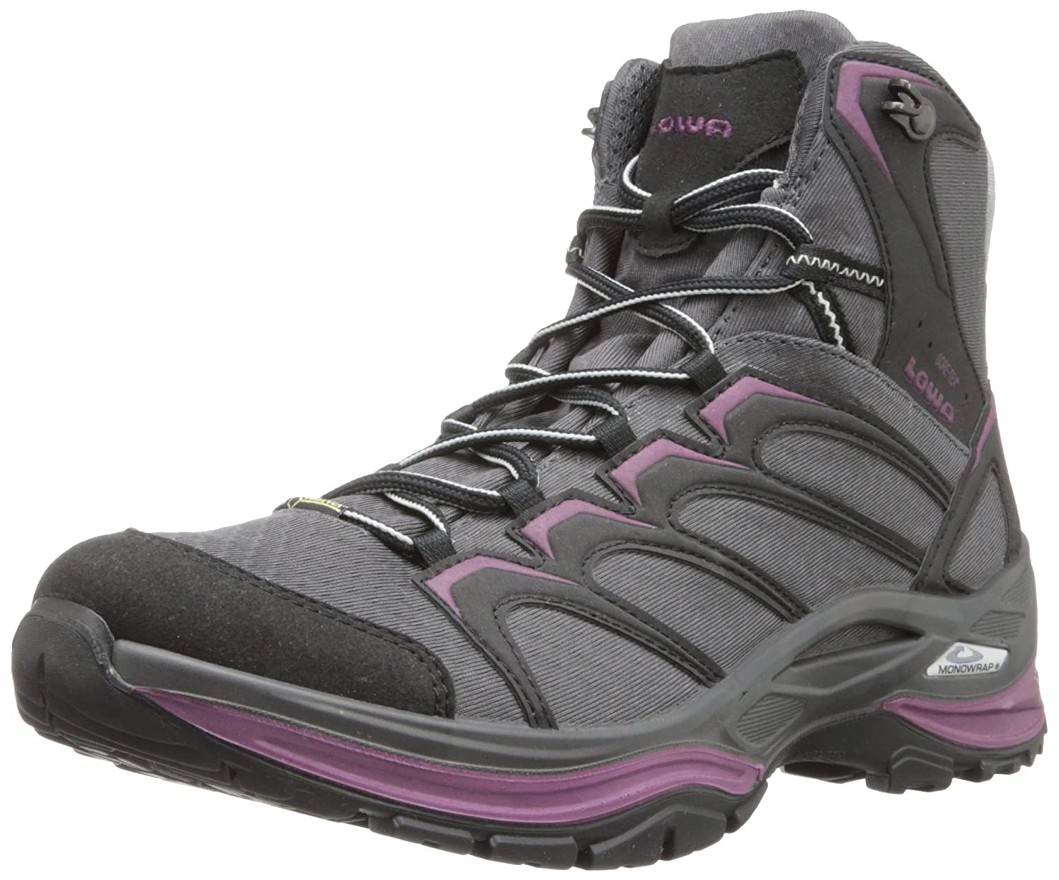 Amazon.com | Lowa Women's Innox Goretex Mid Hiking Boot, Anthracite/Prune,  9.5 M US | Hiking Boots