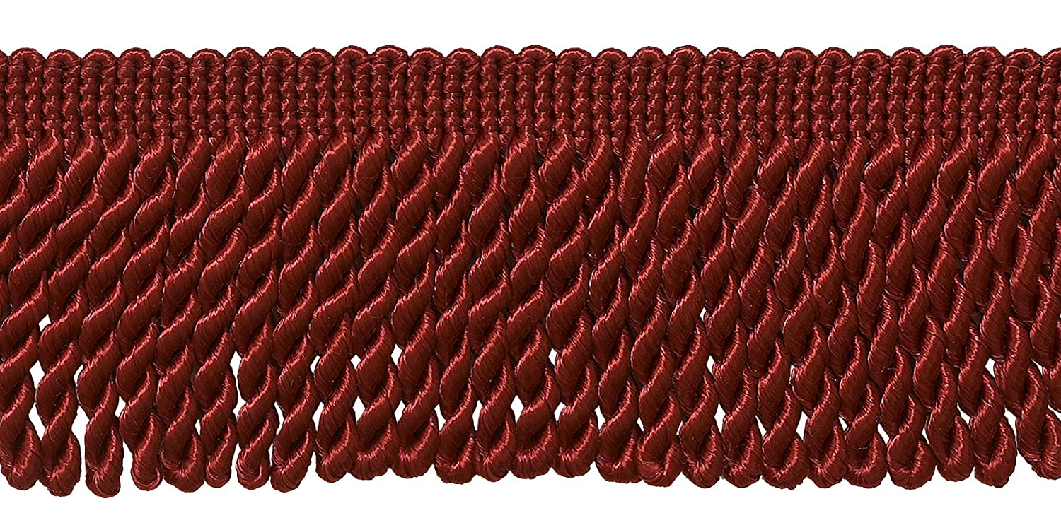 DecoPro 10 Yard Value Pack of Red 2.5 Inch Bullion Fringe Trim, Style# EF25 Color E13 (30 Ft/9.5 Meters) 4337028999