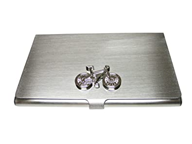 Amazon silver toned detailed bicycle business card holder jewelry silver toned detailed bicycle business card holder colourmoves Choice Image