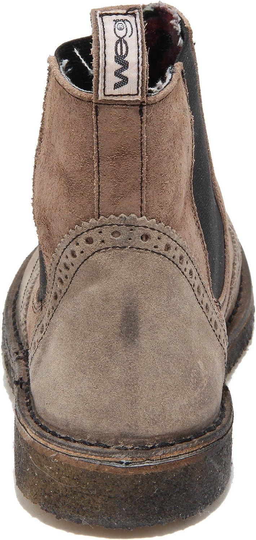 WEG 2336N Beatles Uomo Pelle Marrone Man Shoes Boots: Amazon