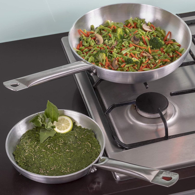 Juego de sartenes profesionales para chef (20 cm + 28 cm): Amazon.es: Hogar