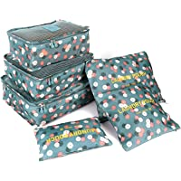 FiveRen Packing Cubes - 6Pcs Travel Luggage Organiser Bags for Backpack Suitcases