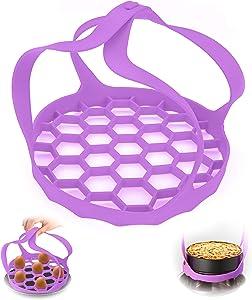 Pressure Cooker Sling Silicone Bakeware Sling for Instant Pot 6 Qt /8Qt,Silicone Trivet For Instant Pot Bakeware Pan Sling Lifter, Egg Rack, and Roasting Rack