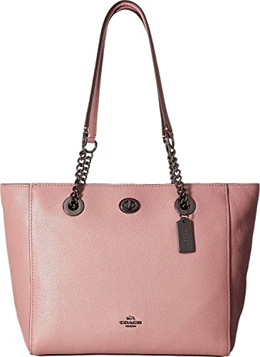 Tote - Turnlock Chain Tote Dusty Rose - rose - Tote for ladies Coach