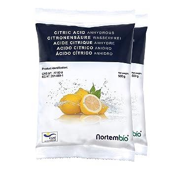 bef212128a6 NortemBio Acide Citrique 1 kg (2x500g). Poudre Anhydre