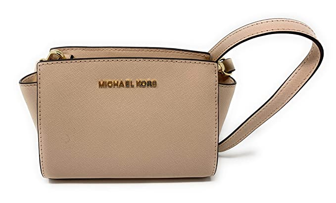 74f28b75db1632 Image Unavailable. Image not available for. Color: MICHAEL Michael Kors  Selma Mini Saffiano Leather Crossbody ...