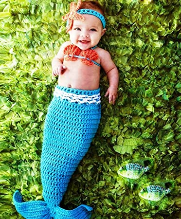 2c9b90fc388e76 Buy 5Star-TD Cozyswan Baby Mermaid Costume Online at Low Prices in ...