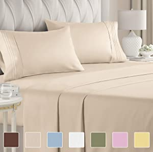 Twin XL Sheet Set - 3 Piece - College Dorm Room Bed Sheets - Hotel Luxury Bed Sheets - Extra Soft Sheets - Deep Pockets - Easy Fit - Breathable & Cooling Sheets – Bed Sheets - Twin - Twin XL Bed Sheet