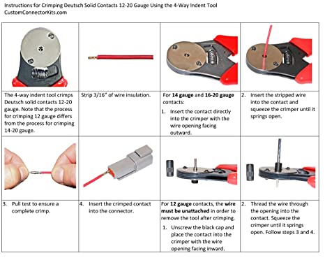 amazon com d sub dt series deutsch crimping tool 20 12 awg automotive rh amazon com Socket Wiring Diagram Wired UK