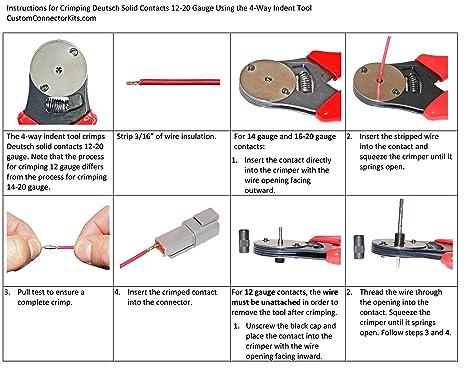 amazon com d sub dt series deutsch crimping tool 20 12 awg automotive rh amazon com Wired UK Wire Money